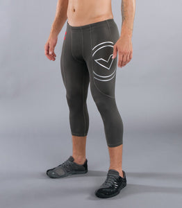 Sio6 | CoffeeChar™ thermal 3/4 Compression Pants | Grey