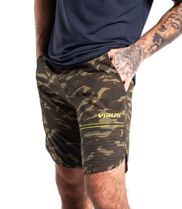 ST5 | Velocity Training Short | OD Camo/Hazard Yellow