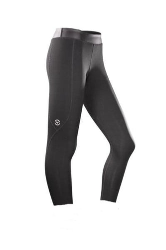 ESio7 | CoffeeChar™ thermal Crop Compression Leggings | Black