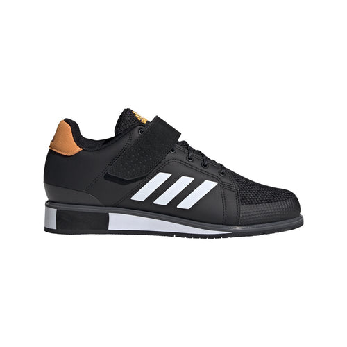 Adidas Power Perfect 3 Men's Weightlifting Shoe Black/White/Gold