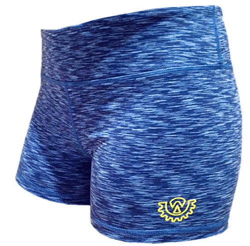 Wod Gear Ladies Wod Shorts Blue Tye