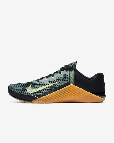 Nike Metcon 6 Men's Training Shoe - Black/Limelight/Gum Medium Brown/Limelight
