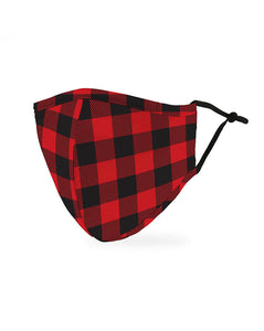 Face mask adult - Red Plaid
