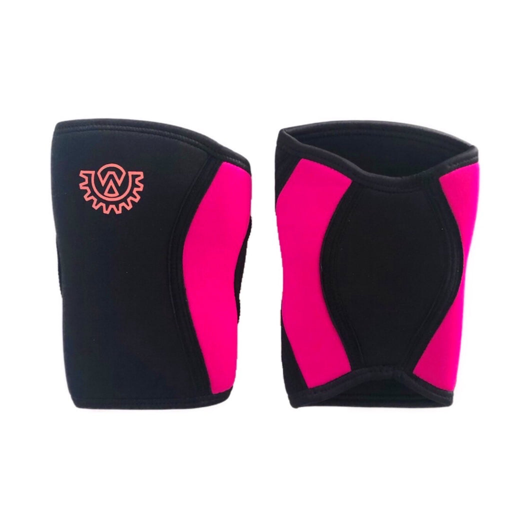 Wod Gear 7mm Knee Sleeves Black/Pink (Pair)