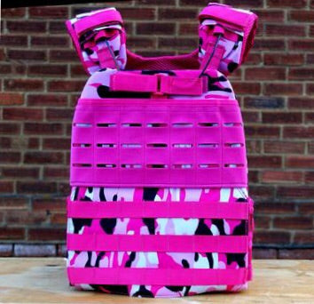 TAC-X Weight Vest Carrier Pink Camo