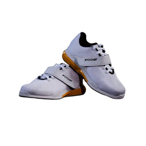 Foost Lifter Series Unisex Weightlifting Shoes - White