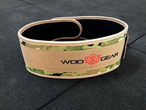 Wod Gear Nylon Weightlifting Belt Camo