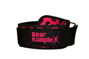 Bear Komplex 4'' Velcro Weightlifting Belt - Pink Leopard