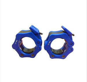 Olympic Barbell Lock Collars Blue