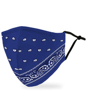 Face mask adult - Blue Bandanna