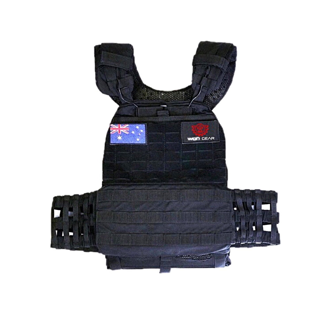 Wod Gear Tactical Weight Vest 20lb - Black