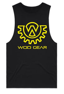 Wod Gear Men's Muscle Tank Black/Yellow