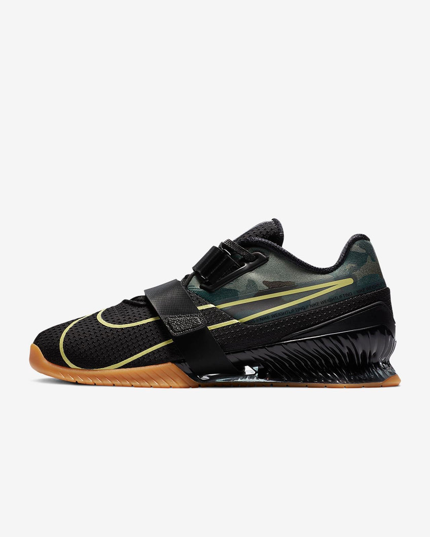 Nike Romaleos 4 Unisex Weightlifting Shoes - Black/Gum/Camo