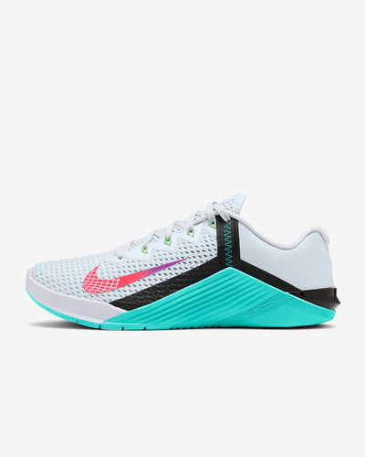Nike Metcon 6 Women's Training Shoe - Football Grey/Hyper Jade/Black/Flash Crimson