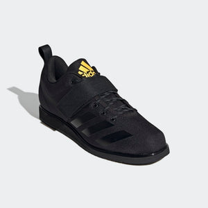 Adidas Powerlift 4 Men's Weightlifting Shoes Core Black / Core Black / Solar Gold