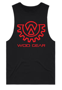 Wod Gear Men's Muscle Tank Black/Red