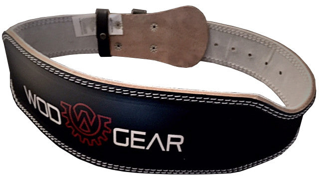 Wod Gear Leather Weightlifting Belt Black
