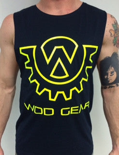 Wod Gear Muscle Tank Navy/Yellow