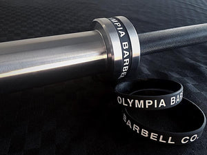 Olympia 20kg Elite Bearing Barbell Black/Chrome