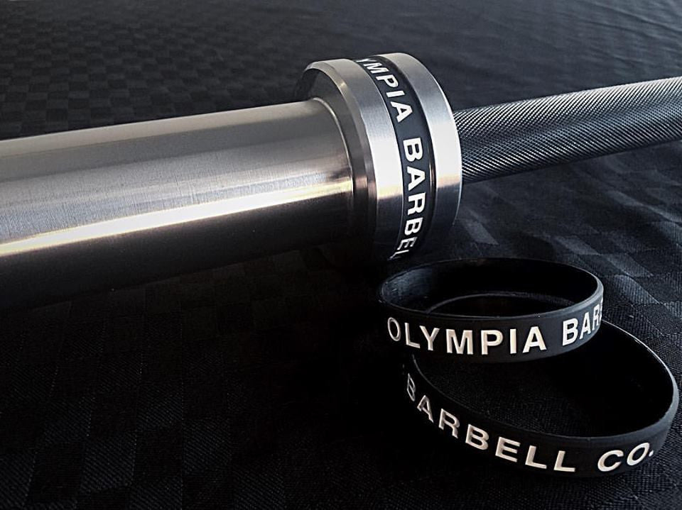 Olympia 20kg Competition Bearing Barbell Black/Chrome