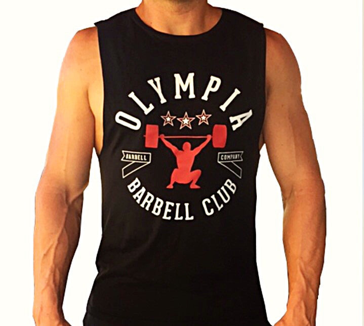 Olympia Barbell Club Muscle tank Black