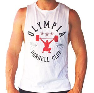 Olympia Barbell Club Muscle tank White