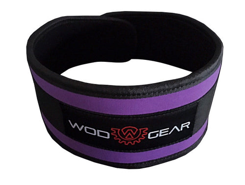 Wod Gear Nylon Weightlifting Belt Purple