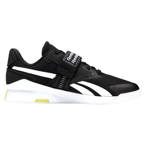 Reebok Lifter PR II Mens Weightlifting Shoes - Black/White/Chartreuse
