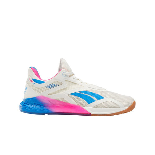 Reebok Nano X Women's Training Shoe - Chalk/Proud Pink/Horizon Blue