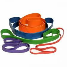 Resistance Band Set Red,Blue,Purple,Green,Orange