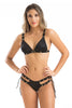Bikini with Gold Buttons Decor