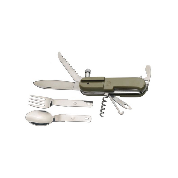 Outdoor Foldable 9-in-1 Stainless Steel Utensil Set