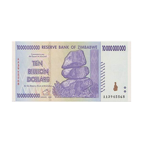 Zimbabwe 10 Billion Dollars, 2008