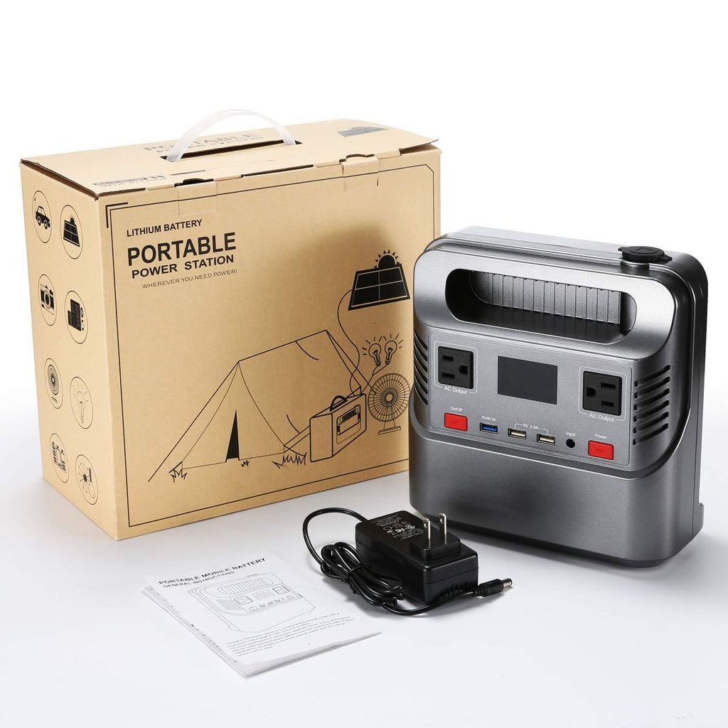 FLOVEME® 300 watt Portable Power Station Generator with Flashlight