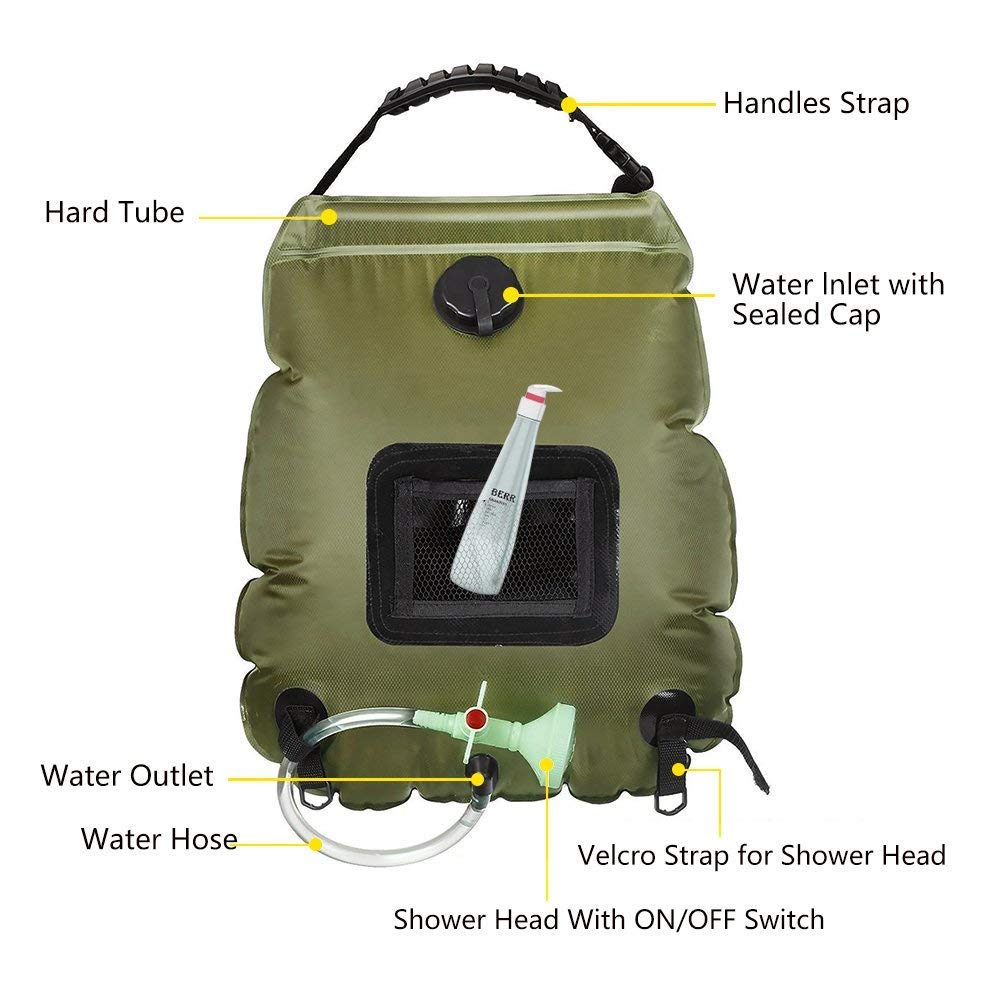 5-Gallon Solar Shower Bag