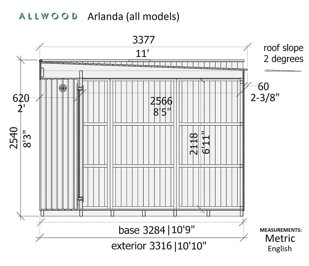 Allwood Arlanda Tiny House (146 sq/ft)