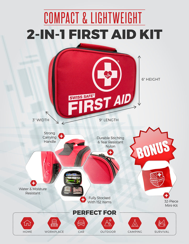 Swiss Safe® First Aid Kit