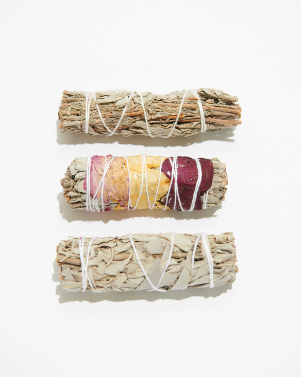 White Sage + Blue Sage Smudge Bundle - Liv Rocks + Cute Face Masks