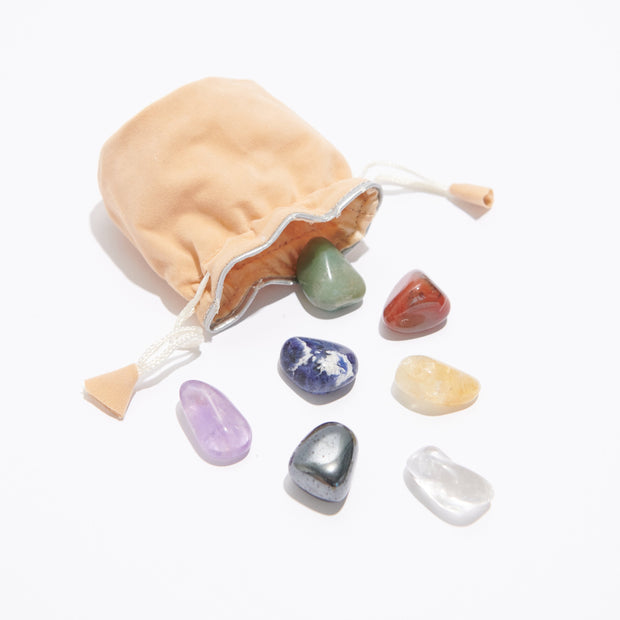 Chakra Healing Stones Set - Liv Rocks + Cute Face Masks
