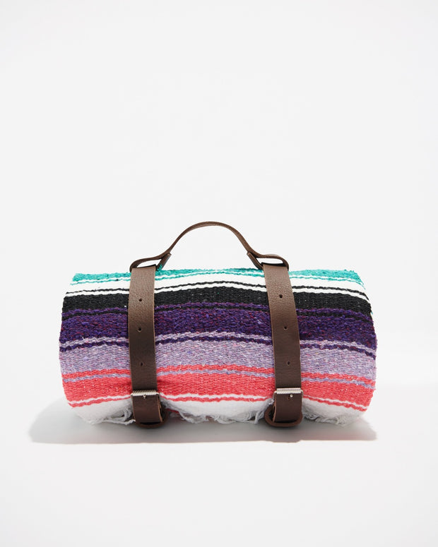 Mexican Blanket Leather Carrying Holder - Liv Rocks + Cute Face Masks