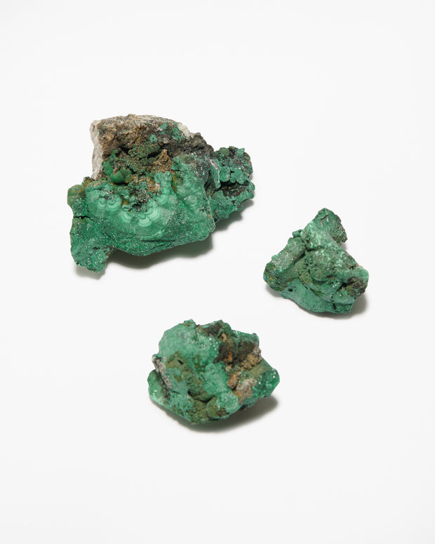 Rough Malachite Stones - Liv Rocks + Cute Face Masks