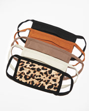 Pleated Face Masks - Fall Colors + Leopard Mix - Liv Rocks + Cute Face Masks