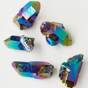 Rainbow Aura Quartz Crystal Points - Liv Rocks + Cute Face Masks
