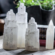 Selenite Tower - Liv Rocks + Cute Face Masks