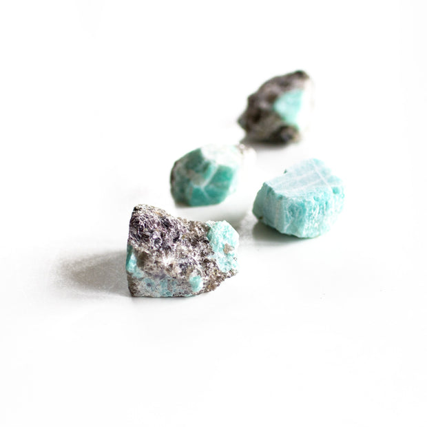 Amazonite Rough Crystals - Liv Rocks + Cute Face Masks