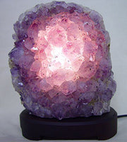 Amethyst Cluster Lamp - Liv Rocks + Cute Face Masks
