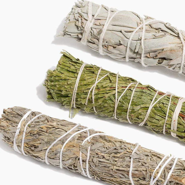 Cedar, White, and Blue Sage Sampler - Liv Rocks + Cute Face Masks