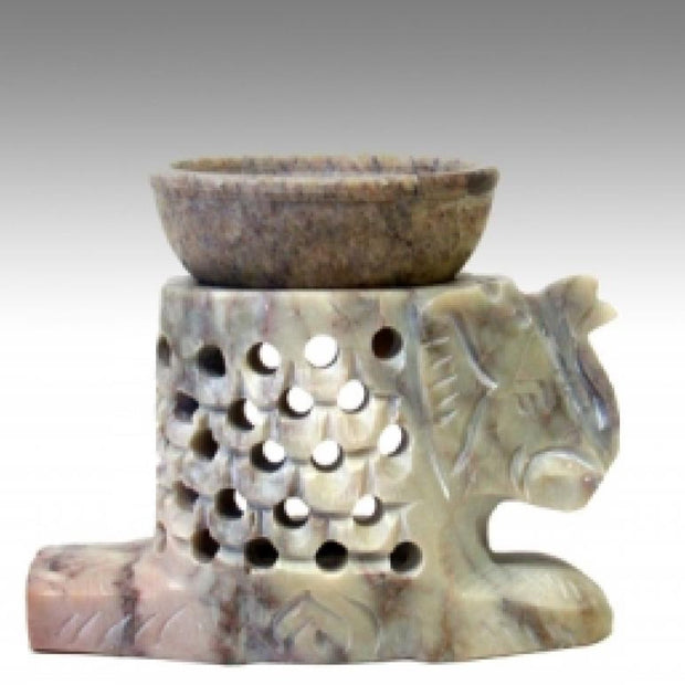Aroma Oil Lamp | Soap Stone Aroma Lamp Elephant - Liv Rocks Energy Healing Crystals+ Wholesale Sage