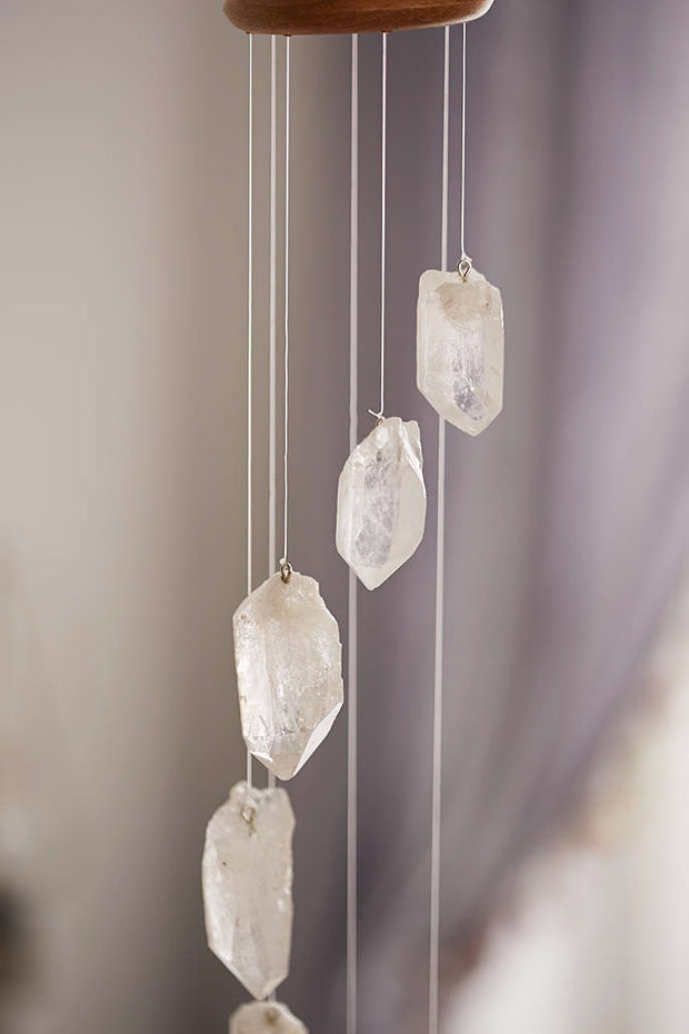 Clear Quartz Wind Chime - Quartz - Liv Rocks + Cute Face Masks