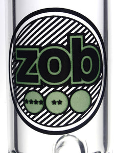 Zob 18 inch Inline Diffused Straight Tube with 8 Arm Tree Percolator